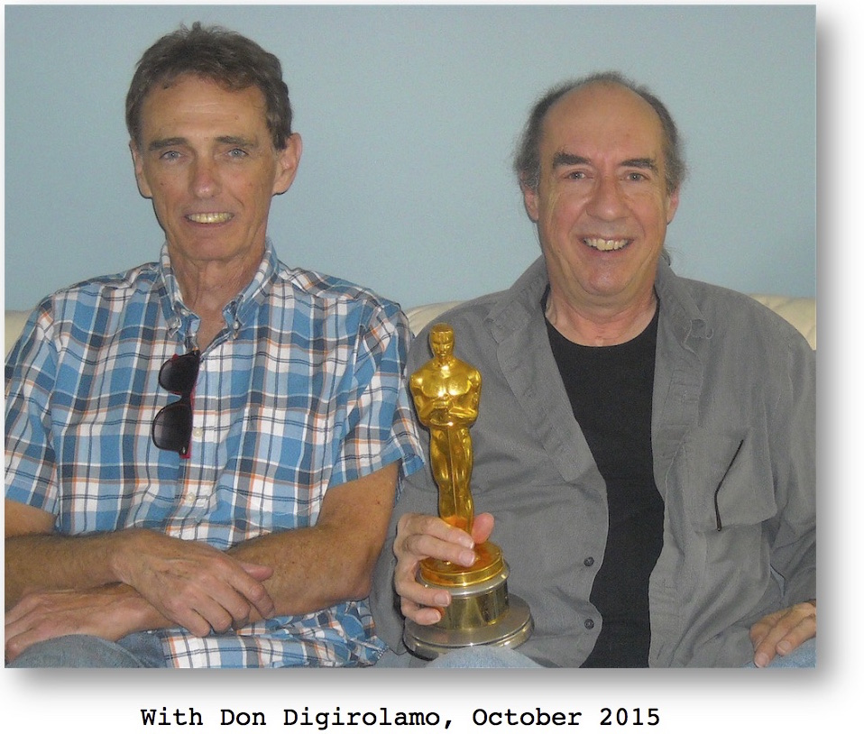 With Don Digirolamo and his Golden Award for mixing E.T. The Extraterrestrial, taken in October 2015.  At Movies Grow English, Whole Movie And Short Sequence ESL Lessons