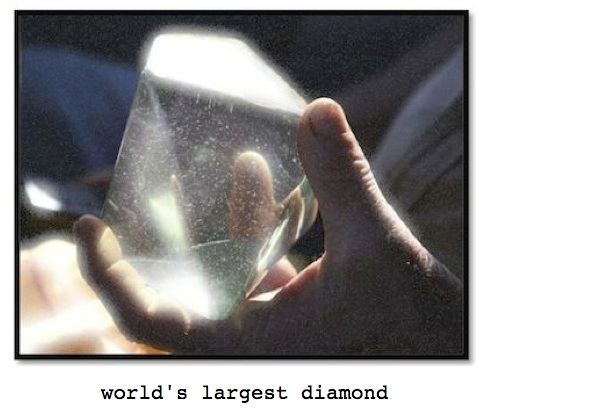 Photo of world's largest diamond for ESL lesson for the film, Blood Diamond