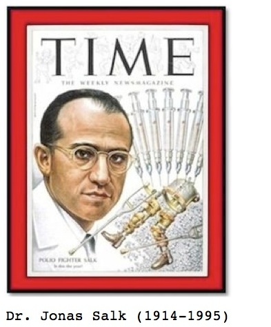Dr. Jonas Salk on cover of Time magazine for ESL movie lesson for the film, Contagion