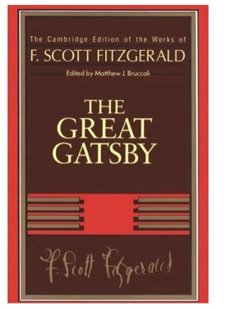 Book cover for The Great Gatsby for the film ESL lesson of the same name