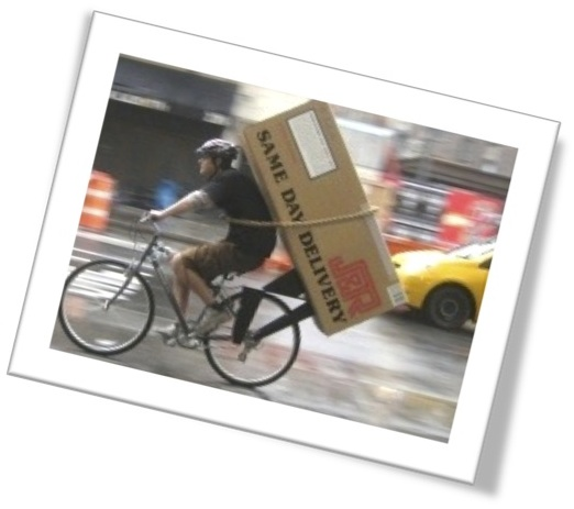 Bicycle messenger for ESL lesson for Premium Rush film