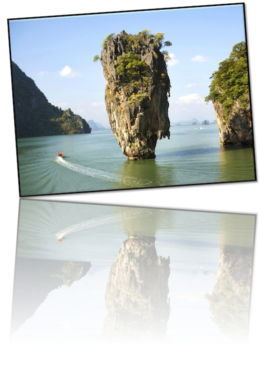 Thailand, natural rock sculptures in the sea