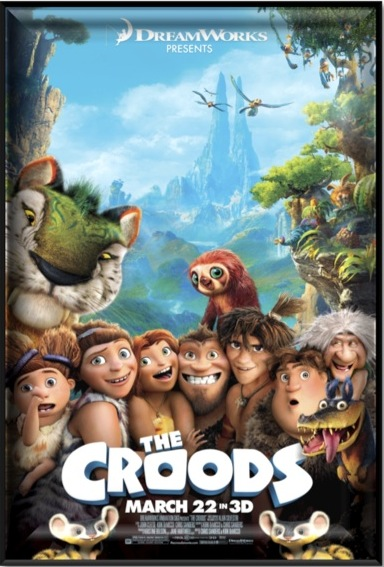 Movie poster for The film, The Croods for ESL lesson