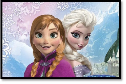 Anna and Ilsa from the Disney animation Frozen for Movies Grow English ESL lessons