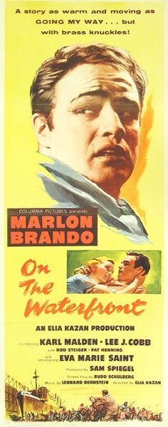 "Poster for ""On the Waterfront"" starring Marlon Brando"