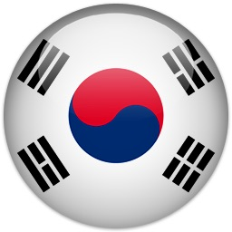 Flag of South Korea.  ESL lessons at Movies Grow English