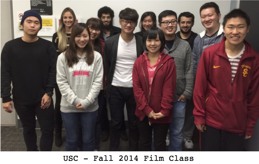 Student portrait from Fall 2014 at USC for Movies Grow English.  ESL lessons using movies. Nahyung Ahn, Musaad Aldawood, Hanadi Alfaisal, Musleh AlGarni, Ahmed Almeshari, Abdullah Alqurashi, Amro Alsanousi, Abdullah Althemali, Mohammed Alyami,Yuzuka Ando, Kaori Cardon, Bokwang (Jason) Eom, ByeongHeon Kim, Ulan Korabay, Fengyu (Lucas) Liu, Jiacheng Lou, Haruka Maekawa, Takumi Miura, Mie Omokawa, Asset Ospanov.