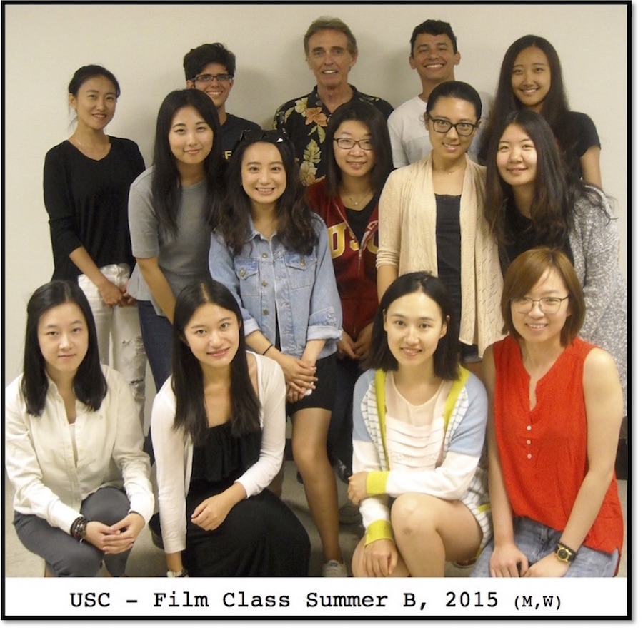 USC Film Class, Summer B 2015 (MW) at Movies Grow English, ESL Lessons using movies. Musleh Al-Garni, Zuhui An, Anna Ferreira, Fatma Gorkam, Daeyoung Kim, Lina Li, Siyu(Claire) Li, Qinghong Lin, Xiyang(Cici), Yuning(Renee) Liu, Yuying(Daisy) Sun, Tang(Angra) Tang, Henrique Teixeira, Mehmet Tirampaoglu, Xiaoyu(Sylvie) Weng, Gustavo Willig, Xiaoyu(Iris) Yang, Rundong(Carly) Zhang, Tianqi(Amber) Zhang, Xueting Zhang, Yang Zhang, Sizhuo(Jessica) Zou, Yuhan(Jacqueline) Zou.