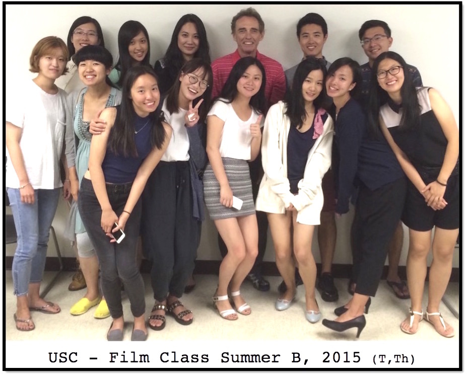 USC Film Class, Summer B (T, Th) 2015 at Movies Grow English, Watch movies, learn English, the perfect ESL lesson. Younyi Chang, Yuer(Jessica) Chen, Yanchen(Jackie) Du, Yumin Gu, Siying(Iris) Li, Xuanrui(Sherry) Li, Huan Lin, Hauqui(Jessica) Lyu, Junyi(Lyra) Lyu, Yuqing Sun, Siyu(Taro) Wei, Lianghuan(Ray) Xiao, Mengqiao Yu, Yu Zhang, Wenhui Zhu.
