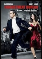 Poster for ESL lesson for the film Adjust Ment Bureau, starring Matt Damon and Emily Blunt at Movies Grow English