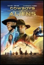 Cowboys and Aliens, movie ESL lesson poster