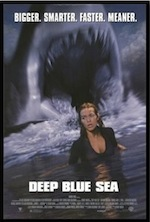 Deep Blue Sea, movie ESL lesson poster