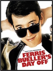 Poster for Whole-Movie ESL lesson for Ferris Bueller's Day Off at Movies Grow English