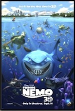 Movie Poster for Finding Nemo, link to whole-movie esl lesson