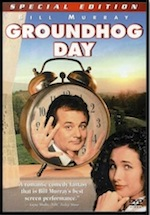 Groundhog Day, whole-movie ESL lesson poster