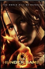 The Hunger Games, whole-movie ESL lesson poster