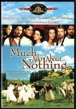 Much Ado about Nothing, whole-movie ESL lesson poster