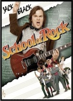 Poster for School of Rock on home page of Movies Grow English, ESL Lessons for movies