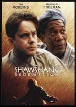 Shawshank Redemption, whole-movie ESL lesson poster, starring Morgan Freeman and Tim Robbins