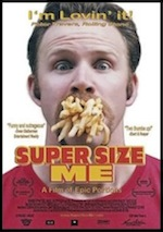 Super Size Me, whole-movie ESL lesson poster