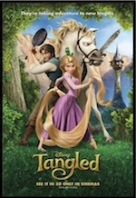 Tangled, whole-movie ESL lesson poster