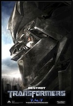 Transformers, whole-movie ESL lesson poster