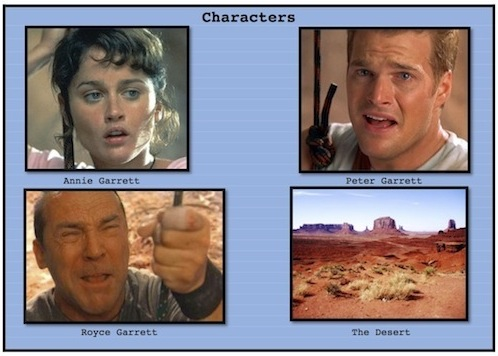Four characters from Vertical Limit, short-sequence ESL lesson poster atn Movies Grow English