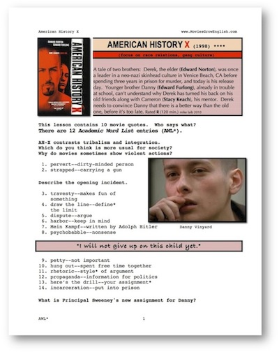 research papers american history x In this section, we contrast the pro fession with many of the practice of obtaining needed services, ideas, or other x history american thesis for content subjects.