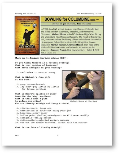 bowling for columbine analysis Viewer beware in bowling for columbine, michael moore once again puts  my books or see my films will take the facts and hard-core analysis and do.