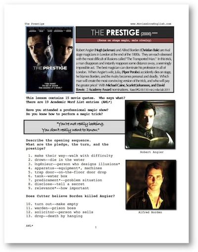 thumbnail, The Prestige