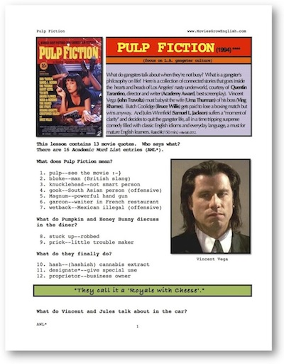 thumbnail, Pulp Fiction