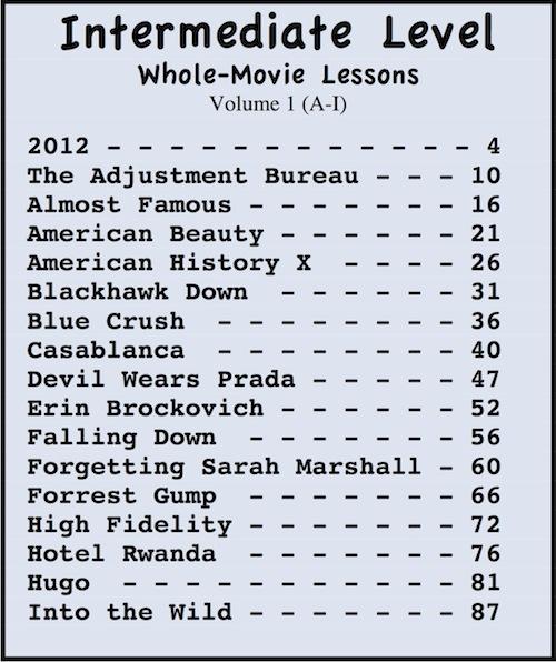 esl movie textbooks esl movie lessons movies grow english. Black Bedroom Furniture Sets. Home Design Ideas