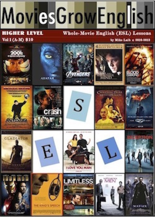 Higher-Level Whole-Movie Lessons book cover for Movies Grow English ESL lessons using popular films