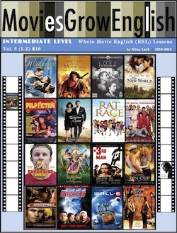 aintermediate-Level Whole-Movie lessons cover page for Movies Grow English, ESL lessons based on popular films