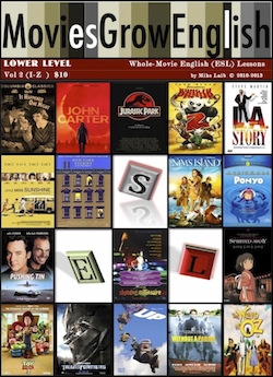 Lower-Level Whole-Movie ESL lessons cover for Movies Grow English