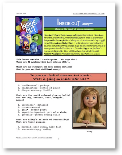 Movies Grow English | Movie ESL Lesson | Inside Out